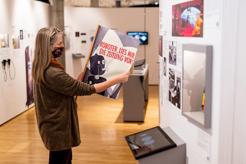 """Bereich Optimierung der Ausstellung """"Back to Future"""", Museum für Kommunikation Frankfurt"""