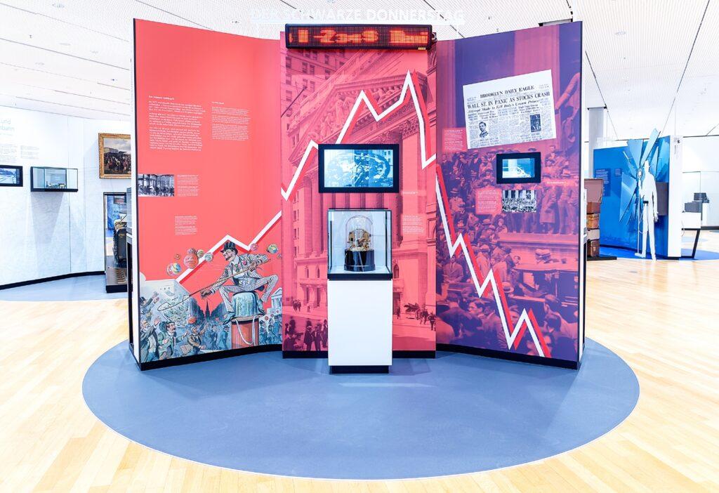 Schwarzer Donnerstag, Dauerausstellung, Museum für Kommunikation Frankfurt